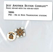 Jabco Button Pack - Plum Street Samplers - His & Hers Thanksgiving Stockings