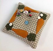 Just Another Button Company - Carrot Tuft Pillow Pincushion THUMBNAIL