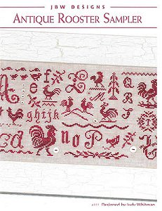 JBW Designs - Antique Rooster Sampler MAIN