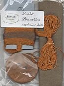 Jeannette Douglas Designs - Quaker Pincushion Kit - Brown_THUMBNAIL