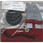 Jeannette Douglas Designs - Quaker Pincushion Kit - Red_THUMBNAIL