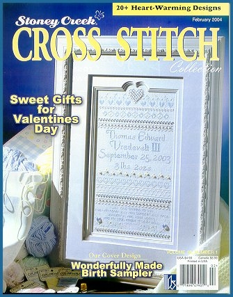 cover of Stoney Creek Cross Stitch Collection magazine February 2004 issue