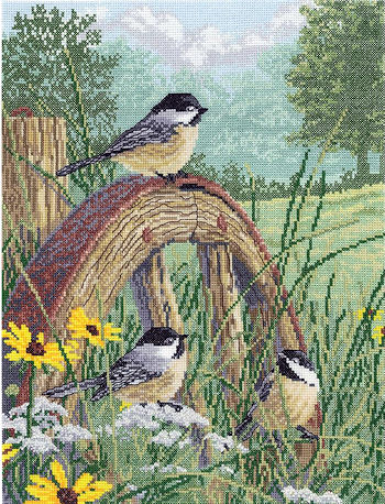 Janlynn Cross Stitch Kit - Meadow's Edge MAIN