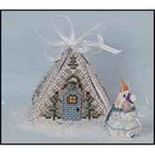 Just Nan - Frosty Winter Mouse In A House