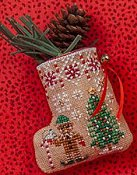 Just Nan - Gingerbread Mouse Elf Stocking
