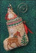 Just Nan - Gingerbread Mouse Reindeer Stocking