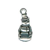 Just Nan - Meadow Snowman Charm THUMBNAIL
