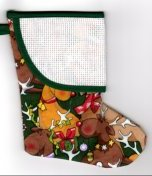 Mini Stocking - Jolly Reindeer