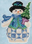 Jim Shore by Mill Hill - Winter Series - Evergreen Snowman