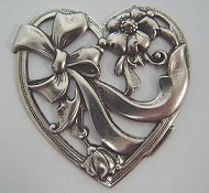 Charm Heart with Ribbons