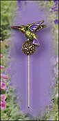 Just Nan - Charm Garden Pin - Hummingbird