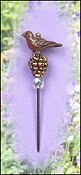 Just Nan - Charm Garden Pin - Robin on Pinecone - Sold Out/Retired