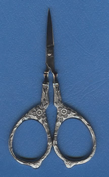 Tudor Rose Scissors - Silver THUMBNAIL