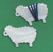 Mother of Pearl Thread Winder - Ewe THUMBNAIL