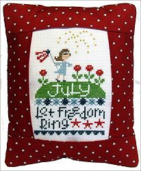 Pine Mountain Designs - Rectangle Pillow - July Let Freedom Ring MAIN
