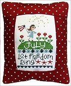 Pine Mountain Designs - Rectangle Pillow - July Let Freedom Ring