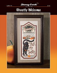 cover of Stoney Creek cross stitch Leaflet 179 Ghostly Welcome THUMBNAIL