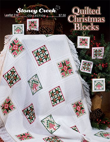 cover of Stoney Creek cross stitch Leaflet 310 Quilted Christmas Blocks MAIN