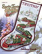 cover of Stoney Creek Christmas cross stitch Leaflet 314 Santa Train Stocking THUMBNAIL