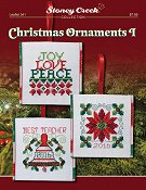 cover of Stoney Creek counted cross stitch Leaflet 341 Christmas Ornaments I