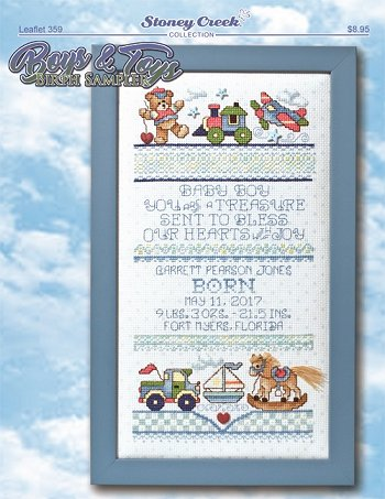 Leaflet 359 Boys & Toys Birth Sampler MAIN