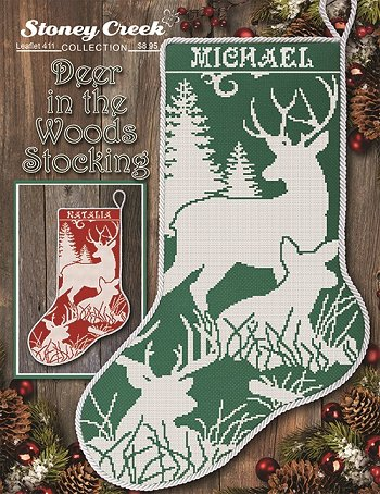 Leaflet 411 Deer in the Woods Stocking THUMBNAIL