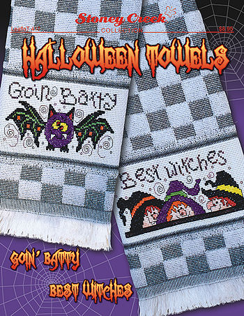 Leaflet 417 Halloween Towels Goin' Batty & Best Witches THUMBNAIL