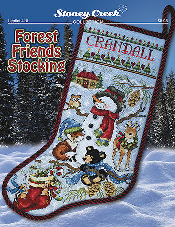 Leaflet 418 Forest Friends Stocking THUMBNAIL