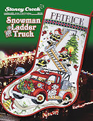 Leaflet 452 Snowman Ladder Truck Stocking THUMBNAIL