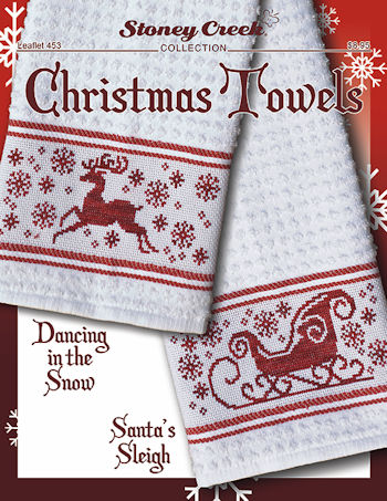 Leaflet 453 Christmas Towels - Dancing in the Snow & Santa's Sleigh MAIN