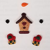 Button Pack - Woodland Critters & Snowman Stocking THUMBNAIL