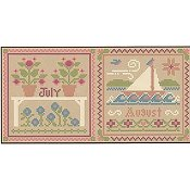 Little House Needleworks - Month Samplers - July And August THUMBNAIL