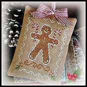 Little House Needleworks - 2012 Ornament #10 - Gingerbread Cookie THUMBNAIL
