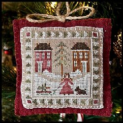 Little House Needleworks - 2011 Ornament #2 - Bringing Home The Tree MAIN