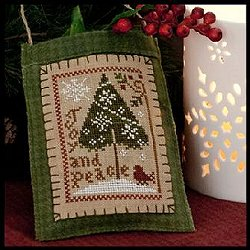 Little House Needleworks - 2011 Ornament #9 - Joy and Peace MAIN