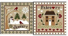 Little House Needleworks - Month Samplers - January and February THUMBNAIL