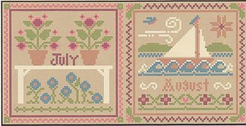 Little House Needleworks - Month Samplers - July And August MAIN