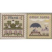 Little House Needleworks - Month Samplers March and April