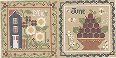 Little House Needleworks - Month Samplers - May and June MAIN