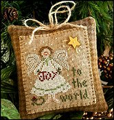 Little House Needleworks - 2010 Ornament #12 - Joy to the World THUMBNAIL