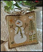 Little House Needleworks - Ornament #8 - Frosty Flakes THUMBNAIL