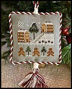 Little House Needleworks - 2011 Ornament #4 - Gingerbread Village THUMBNAIL
