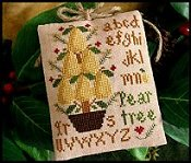 Little House Needleworks - 2010 Ornament #2 - Pear Tree THUMBNAIL