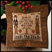 Little House Needleworks - 2011 Ornament #3 - Deck The Halls THUMBNAIL