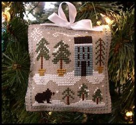Little House Needleworks - 2010 Ornament #4 - Snowy Pines MAIN