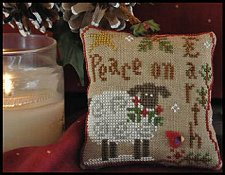 Little House Needleworks - Ornament #5 - Winter Sheep THUMBNAIL