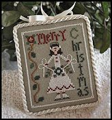 Little House Needleworks - 2010 Ornament #7 - Merry Skater THUMBNAIL