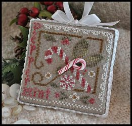 Little House Needleworks - 2010 Ornament #9 - Peppermint Twist MAIN