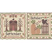 Little House Needleworks - Month Samplers - September and October THUMBNAIL
