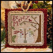 Little House Needleworks - 2011 Ornament #10 - Snow In Love THUMBNAIL